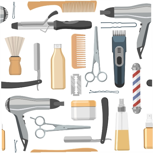 beauty salon seamless pattern 1