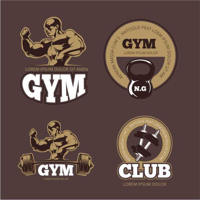 bodybuilder and gym vintage emblems bodybuilder gym 1 1