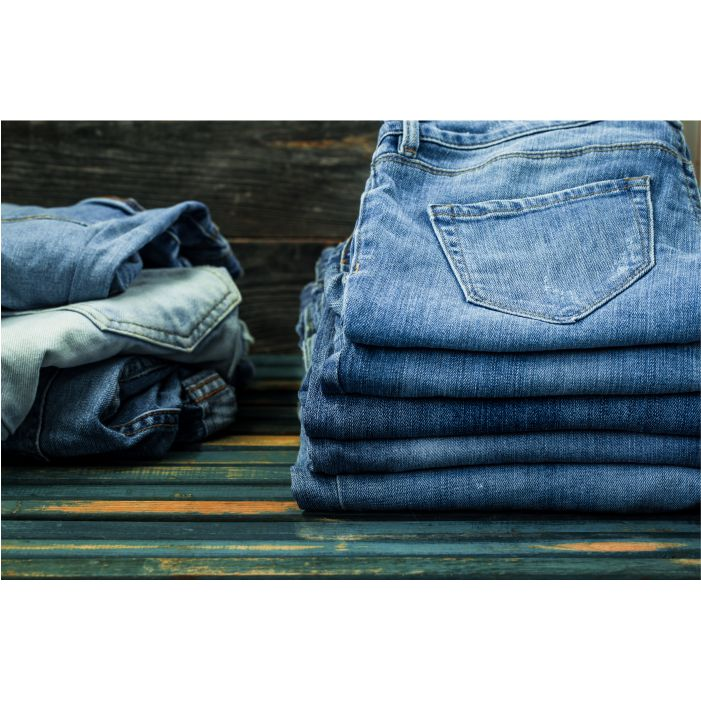 bunch jeans wooden wall fashionable clothes 1