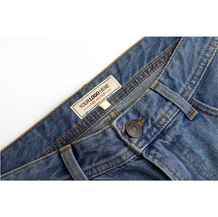 denim pants label mockup 1