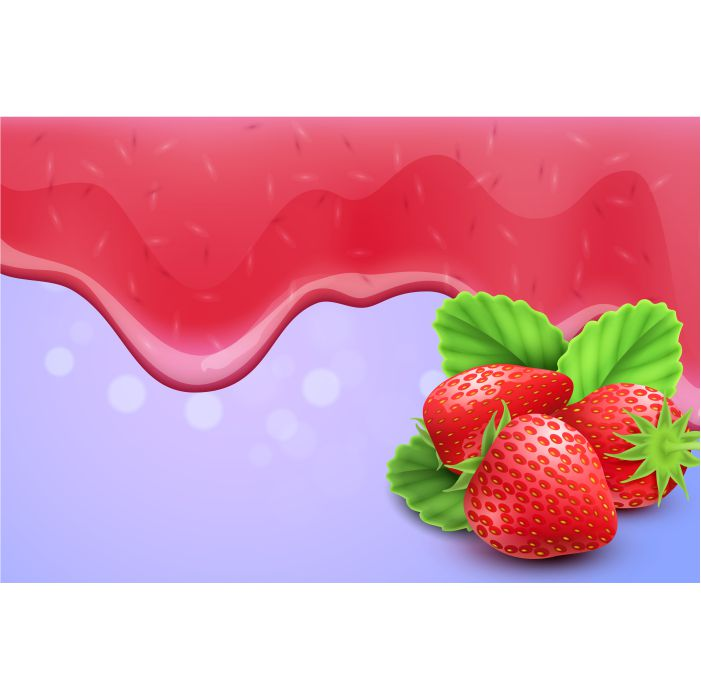 dripping melting strawberry jam drops background realistic 1