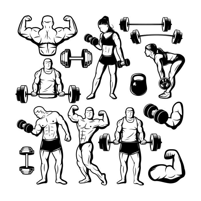fitness GYM people Dumbbell bodybuilding 1