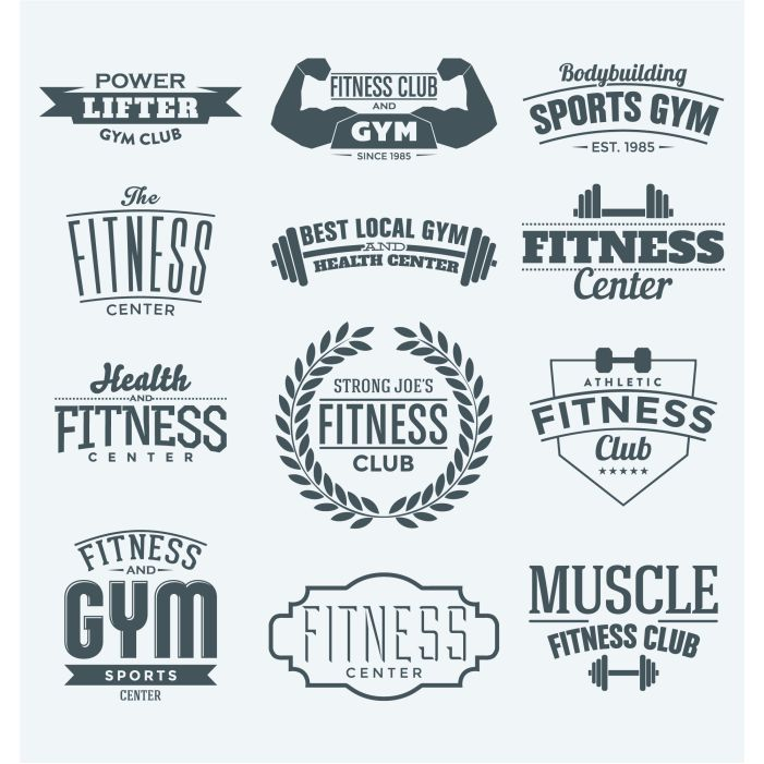 fitness logos collection 1