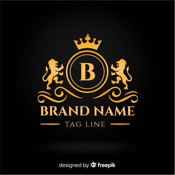 flat golden elegant logo template 1