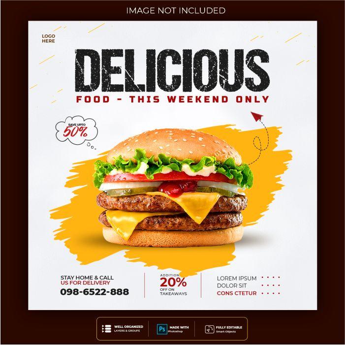 food social media banner post template 1