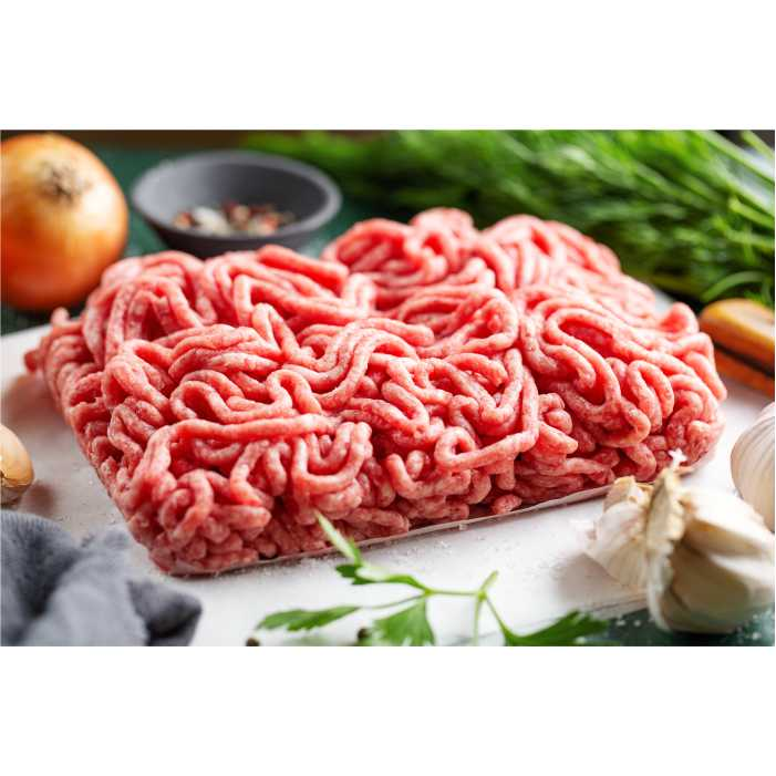 fresh minced meat ready cooking 1