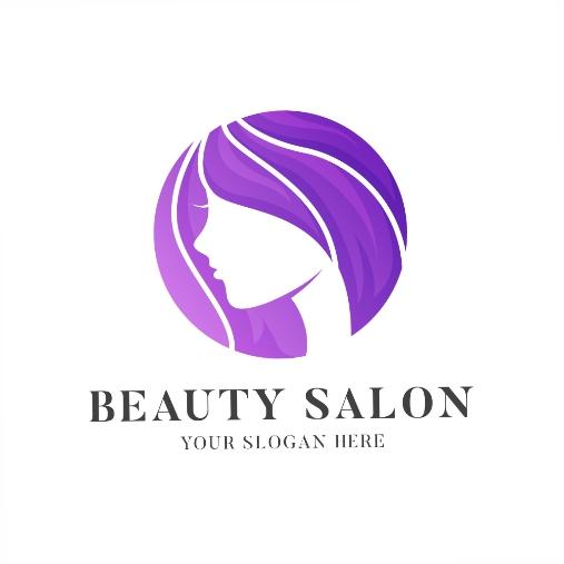 gradient hair salon logo template 1