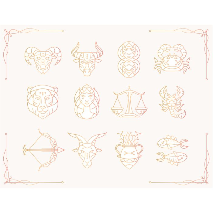 gradient zodiac sign collection 1