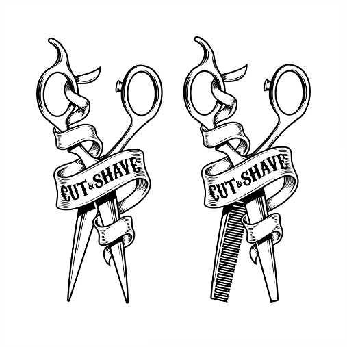 hairdressing scissors isolated on white background 1