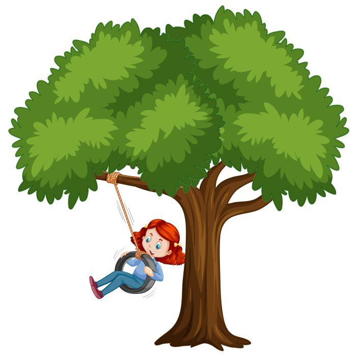 kid playing tire swing tree white 1