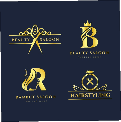 luxury hair salon logo collection 1