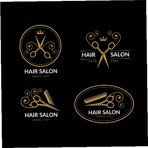 luxury hair salon logo collection 2 1