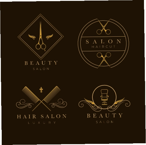 luxury hair salon logo collection 4 1