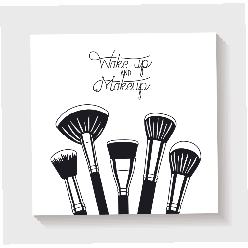 make up brushes accessories icons 1