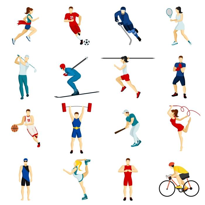 people sport icon set 1