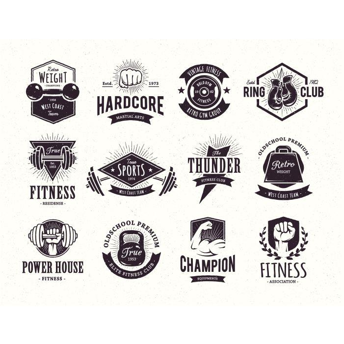 retro emblems collection 1