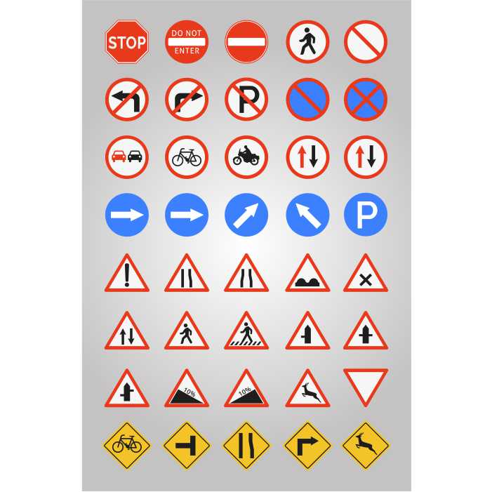road signs icon collection 1