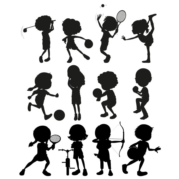 silhouette kids playing sports 1