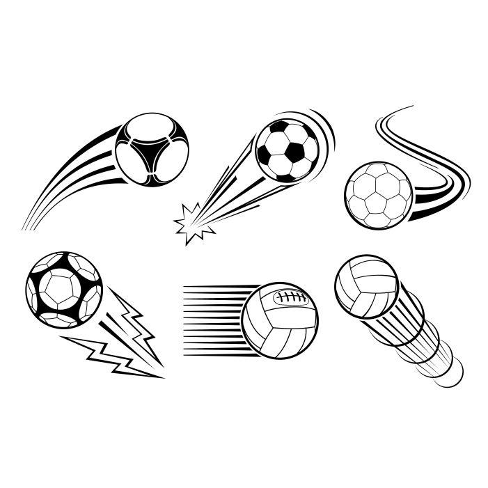 soccer football balls labels emblems 1