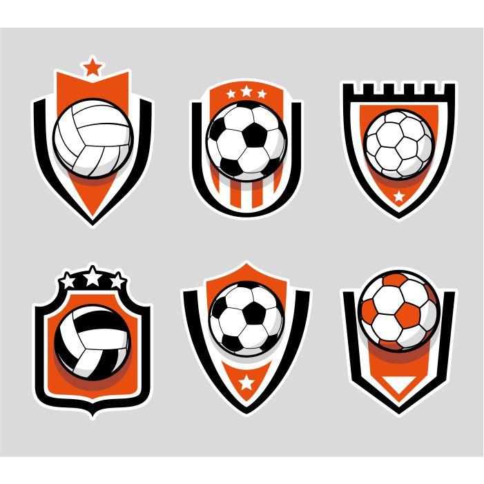 soccer football color logo set 1