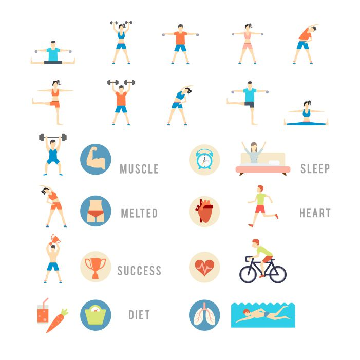 sports and health people set 1