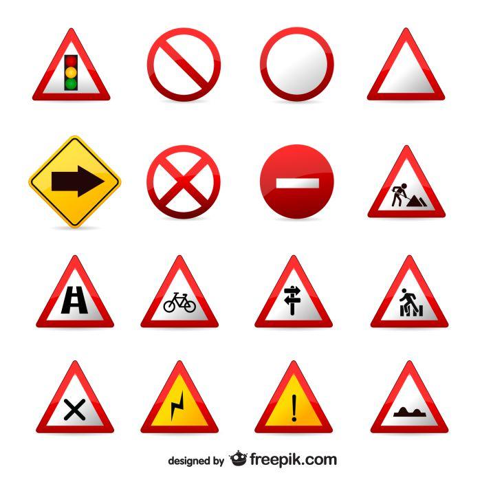 traffic signs set 1