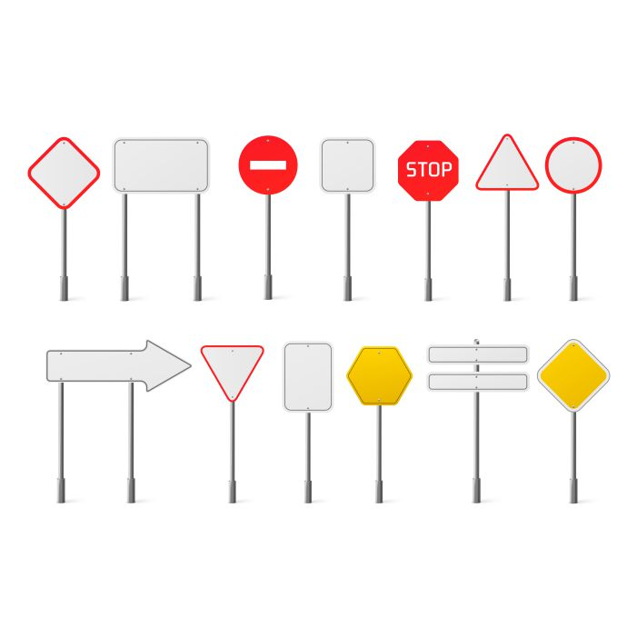 vector set of blank traffic road signs 1