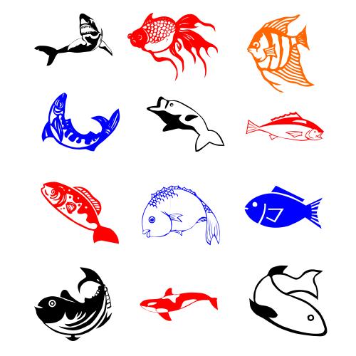 دانلود طرح وکتور ماهی و آبزیان