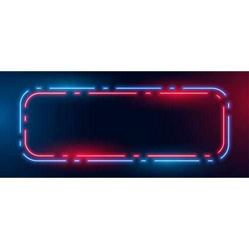Blue red neon light frame box background 1