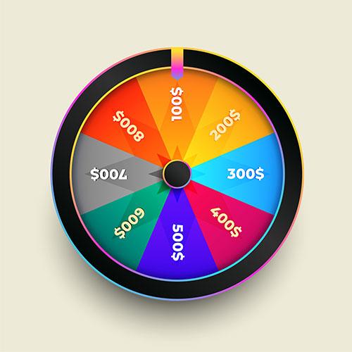 Colorful wheel fortune luck design 1