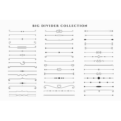 Mega set floral dividers frames collection 1