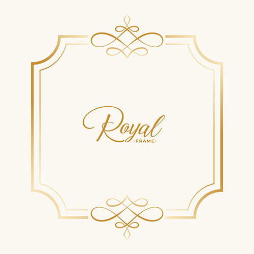 Royal vintage frame decor with text space 1