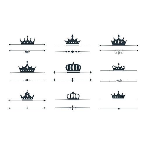 Set crown loqotype border design 1