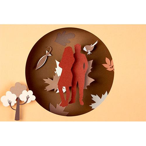 autumn composition paper style 1