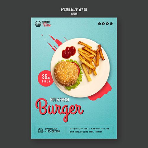 burger concept flyer template 2 1