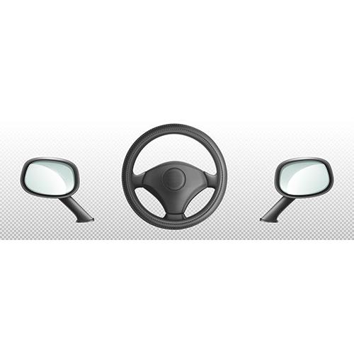 car steering wheel side rear view mirrors 1