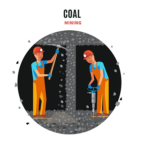 coal extraction flat template 1