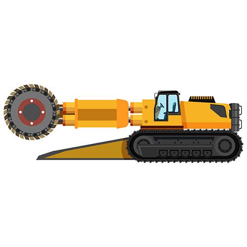 coal mining roadheader isolated 1