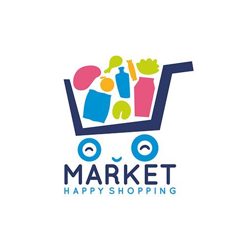 cute shopping cart logo 1
