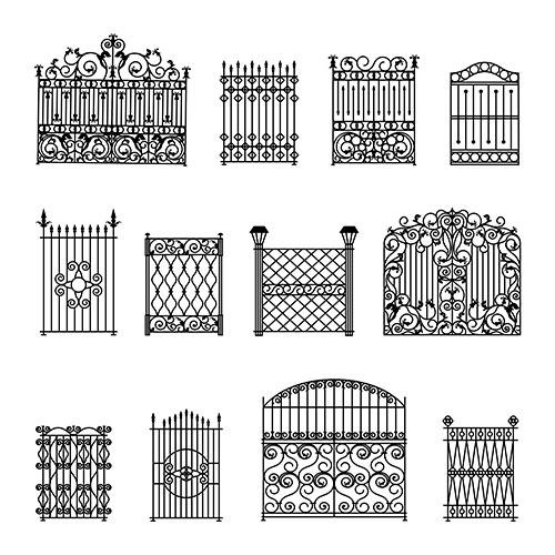 decorative fences set 1