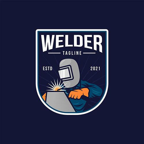 detailed welder logo template 1