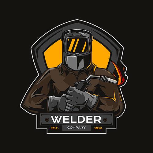 detailed welder logo template 4 1