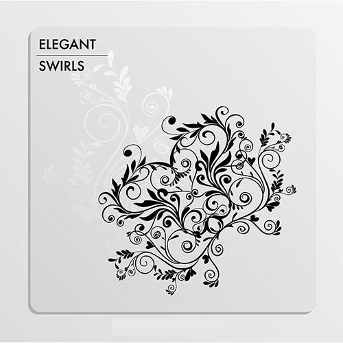 elegant black white swirls 1