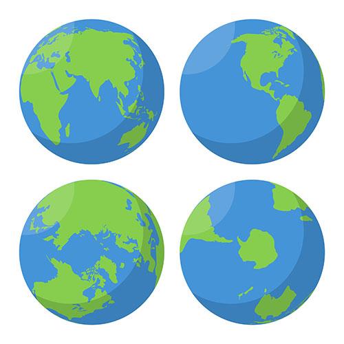 flat earth globes set 1
