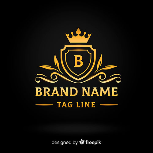 flat golden elegant logo template 2 1