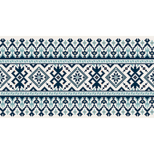 illustration of ukrainian folk seamless pattern ornament 1