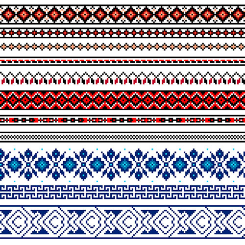 illustration ukrainian folk seamless pattern ornament ethnic ornament border element 1
