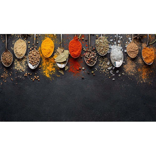 indian condiments with copy space view 1