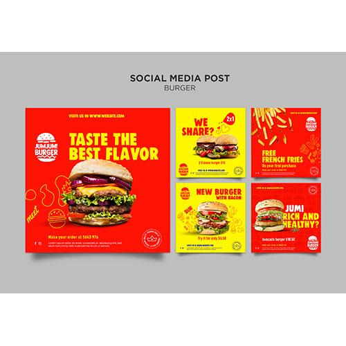 instagram posts collection burger restaurant 1