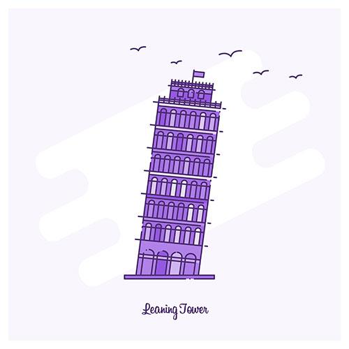 leaning tower landmark 1